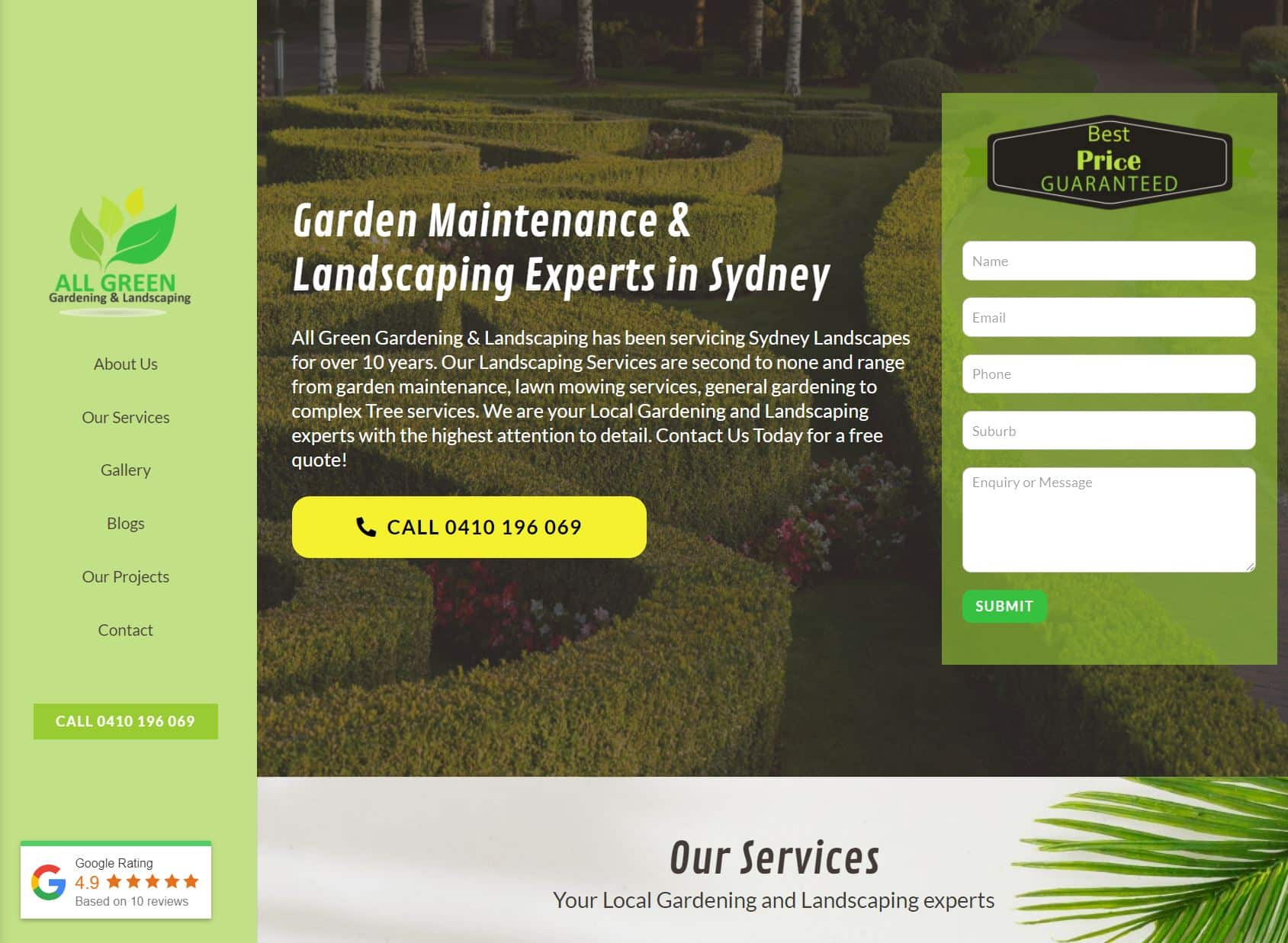 All Green Gardening and Landscaping